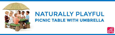 amazon com step2 naturally playful picnic table with umbrella