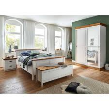 komplett schlafzimmer teilmassiv sibiuta 5 teilig