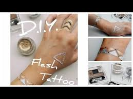 DIY Flash Metallic Tattoo