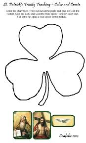 Free Printable Shamrock Trinity Just Color The And Glue On Father