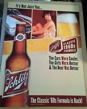 Schlitz Beer Posters Classic 1960s Formula CarsGirls