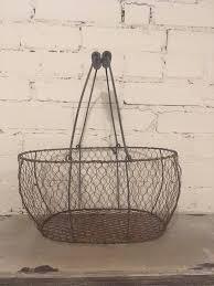 99 Fresh Home Decor Chicken Wire Basket Egg Caddy Reproduction Farmhouse Farm