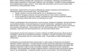 Toys R Us Resume Examples Fresh Summary Profiles For Biochemistry Resumes Excellent