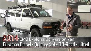 Custom Quigley 4x4 Duramax Diesel Lifted 2014 GMC Off Road Explorer Conversion Van