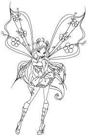 Winx Pixie Coloring Pages For Girls