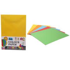 Sentinel 60 Assorted A4 Colour Paper Crafts Arts School Designs Displays Creative Fun
