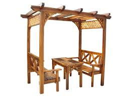 Garden Wood Furniture Plans by Wide Garden With Contemporary Outdoor Furniture Of Brown Rattan