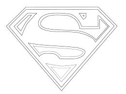 Batman Symbol Coloring Page For Superman Logo Pages