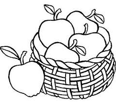 Picture Of Fruit Basket For Coloring