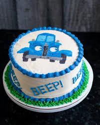 100 Truck Birthday Cakes Little Blue Smash Cake Buttercream Transfer Tutorial