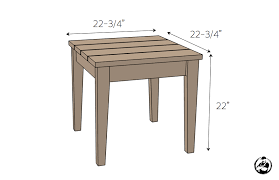 Plans For A Simple End Table by Simple Outdoor Side Table Rogue Engineer