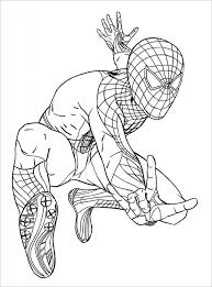 Stunt Spiderman Coloring Page