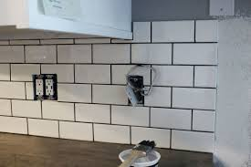 Polyblend Ceramic Tile Caulk Drying Time by How To Install A Subway Tile Kitchen Backsplash
