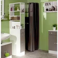 separation salle de bain gap colonne de séparation de salle de bain 54 cm blanc et gris