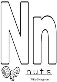 Coloring Pages Letter N