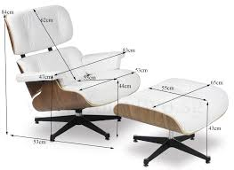Eames Replica Lounge Chair (White Leather) Simple Yet Comfy Eames Lounge Chair And Ottoman Home Ideas Collection Lounge Chair White Herman Miller And White Ash In Mohair Supreme Style White Leather Walnut Wood Replica Via Jelanieshop Dwell Chairs Catalonia Mod Natural Silver Version Risom Inspired Summile Barcelona Stool Set Pu Black Vitra Keller Gray