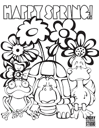Happy Spring On Simply Simple Springtime Coloring Pages