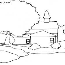 A House Landscapes Coloring Pages