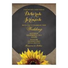 Rustic Country Wood Sunflower Wedding Invitation