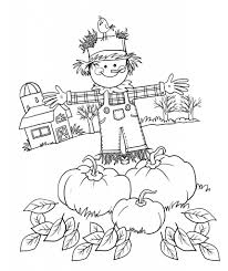 Coloring Page Thanksgiving Harvest Pages