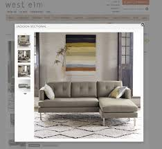 West Elm Crosby Sofa Sectional by West Elm Sectional West Elm Enzo Reclining 4seater Sectional With