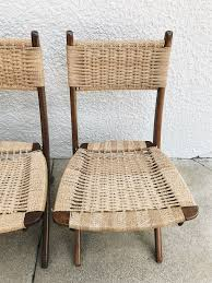 FOLDABLE ROPE CHAIRS – Arlee Park Vintage Mid Century Modern Folding Rope Chairs In The Style Of Hans Wegner 1960s Danish Bench Vonvintagenl Catalogus Roped Folding Chairs Yugoslavia Edition Chair Restoration And Wood Delano Natural Teak Outdoor Midcentury Pair Cord And Ebert Wels The Conran Shop
