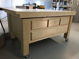 Sawstop Cabinet Saw Outfeed Table by Down To Earth Woodworkingdown To Earth Woodworkingphoto Gallery Of