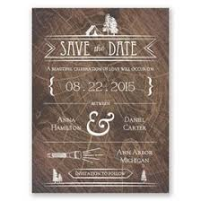 Rustic Save The Dates Making Camp Date Card
