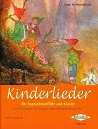 kinderlieder für sopranblockflöte und klavier noten für