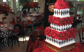 Use A Clever Twist Of Colours At Black And Red Wedding Theme