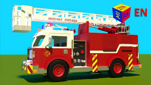 100 Fire Truck Red Truck Responding To Call Construction Game Cartoon For Children