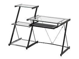 Small Glass And Metal Computer Desk by Desks U2013 Z Line Designs Inc