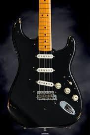 Inspection For Fender Custom Shop David Gilmour Signature Series Stratocaster Relic Black Over Sunburst