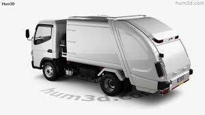 100 Fuso Truck Mitsubishi Canter Shinmaywa Garbage 2017 3D Model By