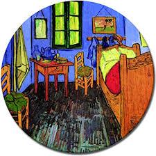 bilderdepot24 wandbild vincent gogh vincents schlafzimmer in arles 60 cm rund runder kunstdruck alte meister