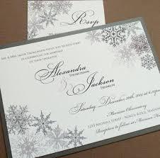 Lacy Snowflake Winter Wedding Invitations