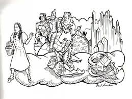 Wizard Of Oz Characters Coloring Pages Free Printable