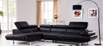 canapé d angle gauche cuir noir hudson