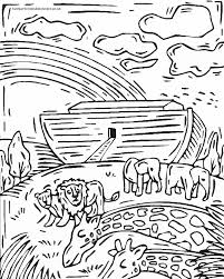 Noah And The Ark Rainbow Coloring Pages
