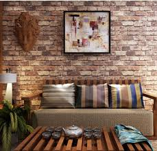 Blooming Wall Cultural Faux Rustic Tuscan Brick Wallpaper 3d For Walls Paper Roll