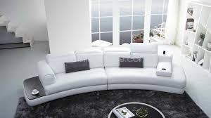 canape cuir design contemporain canape courbe zelo moderne couture originale ambiance cuir blanc2 xl