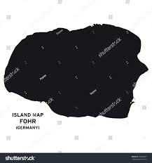 100 Island Of Fohr Map Germany Stock Vector Royalty Free 339003887