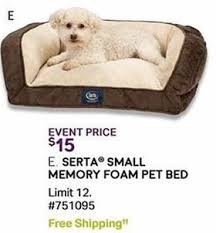Serta Dog Bed by Sam U0027s Club Black Friday Serta Small Memory Foam Pet Bed For