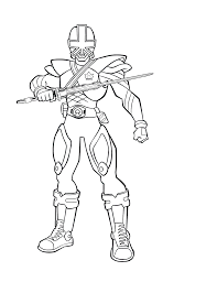 Power Ranger Coloring Pages Free Printable Rangers For Kids Disney