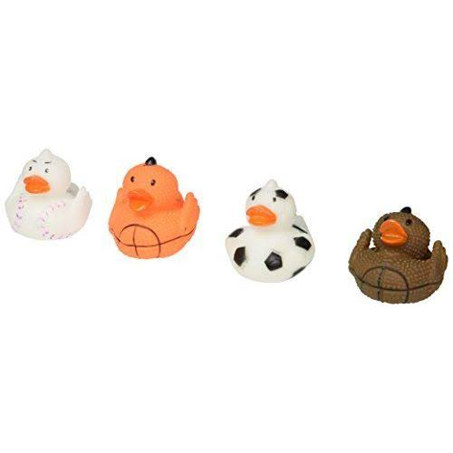"Rhode Island Novelty Sports Themed Rubber Duckies - 2"", 4 Set"
