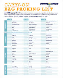Travel Packing List 10 Free Word Pdf Psd Documents Download