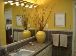 Yellow Gray Bathroom Art by Yellow Bathroom Curtain Grey Yellow Bathroom Decorations And