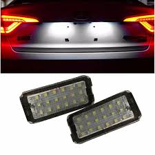 no error 2 pcs car license plate light for fiat 500 500c auto