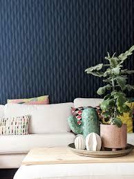 tapete wohnzimmer wallpaper blau motiv deko p