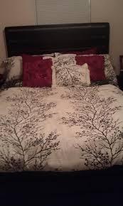bedroom comforter from burlington coat factory and red sheet set